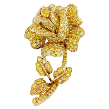 VAN-CLEEF-ARPELS-Magnificent-Canary-Yellow-Diamond-Rose-Pin-1stdibs-350x350