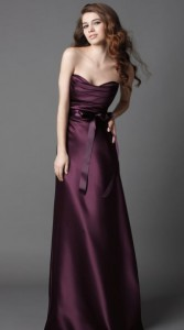 WTOO-Bridesmaids-Dress-Collections-Plum-Duchess-Satin-floor-length-dress-with-draped-bodice-a-line-bias-skirt-and-plum-ribbon-sash.