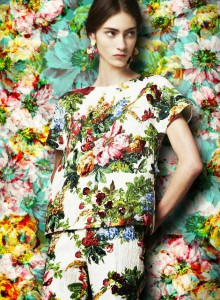 dolce-and-gabbana-fw-2014-womenswear-collection-flower-and-fruit-print-dress-printed-brocade-tunic-and-trousers (1)