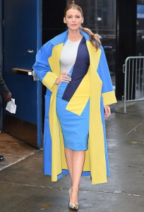 Blake Lively at Good Morning America in NYC.