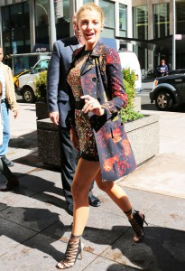 Blake Lively arrives at Sirius radio in NYC
