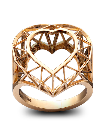 SKELETON HEART RING от Solange Azagury