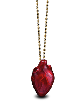 BLEEDING HEART PENDANT от Solange Azagury