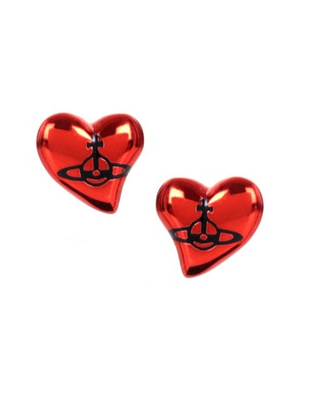 VIVIENNE WESTWOOD New Heart Stud Earrings, $ 129