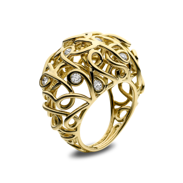 Spaghetti bombe ring by Solange Azagury – Partridge