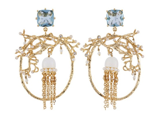 Les Nereides ATLANTIDE JELLYFISH AND CORAL HOOPS, $ 217
